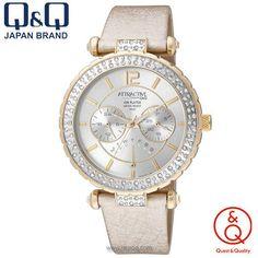 jam tangan Q Q wanita DA79 J101Y Attractive Cream Gold Cream 84b6d99caf