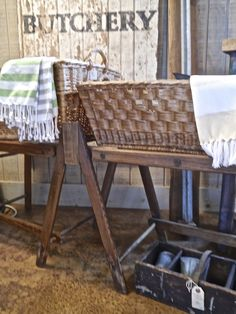 Vintage wooden laundry stand