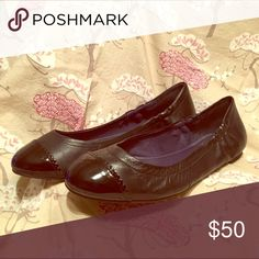 Jack Rogers Bree Leather Ballet Flat Size 11 Sweet and simple. Black leather with a patent toe. Excellent condition. Smoke and pet free home. Jack Rogers Shoes Flats & Loafers