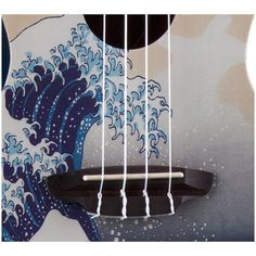 Luna Great Wave Ukelele Concierto Funda ❤ liked on Polyvore featuring home and home decor