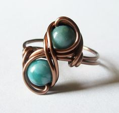 Turquoise Infinity Ring Custom Size Boho Jewelry par DistortedEarth, $12,00