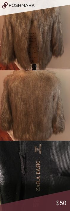 Zara Fur Jacket Like new. Not even sure if my daughter even wore it. Amazing condition. Please feel free to ask questions! No lowball offers or trades please! Zara Jackets & Coats