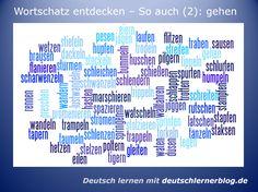 Deutsch lernen - Wortschatz: So auch (2): gehen Es gibt viele Weisen, sich zu Fuß fortzubewegen. Und zum Glück gibt es für jede Art des Gehens ein eigenes Verb!