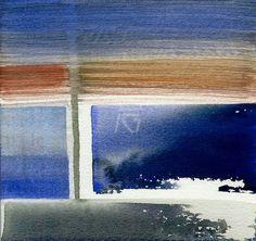 GRISAZUR: Acuarela sobre papel, 16,5x17,5 cm.Mar. 16, 2015