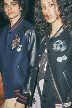 """Last month we took a sneak peek at the new Disney inspired Coach collection debuting soon. With the beautiful and Edgy Disney x Coach: """"A Dark Fairytale"""" Sporty Outfits, Sporty Style, Leather Varsity Jackets, Coach Disney, Disney Handbags, Dark Fairytale, Disney Couture, Coach 1941, Disney Style"""