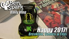Happy 2017! - Breakfast, Comics & Toys - New Modarri Kickstarter Car!  Another year has begun and it is another year of making daily videos! I made sure that I took last night off so that I could start the New Year with family instead of being at work.   We had breakfast at Morin's this morning and I asked the kids what they wanted to do this year. Their answers surprised me.  I received the Modarri Kickstarter car the other day and revealed it in today's video.