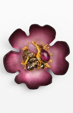 I'm kind of intrigued by this pin.  Alexis Bittar Encrusted Flower Statement Pin (Nordstrom Exclusive) | Nordstrom