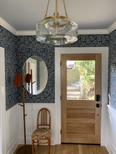 William Morris Wallpaper, Morris Wallpapers, Foyer, Entryway, Wallpaper Panels, Loft Style, Elegant Homes, Room Colors, Family Room
