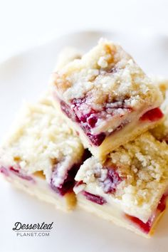 """Cherry Pie Bars (Desserted Planet). """"Beyond yummy.  And so incredibly easy to make."""""""