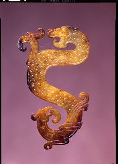 China - Jade Configuration of Dragon, Bird, and Snake, 4th-3rd century BC Zhou dynasty, Warring States period
