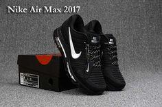 6d560d611b9b Nike Air Max 2017 Run Shoes Top Black White For Men Cheap Nike Trainers