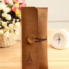 New Suede Leather Cosmetic Makeup Bag Pen Pencil Stationery Case Zipper Pouch…