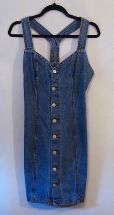 Vintage Denim Mini Dress M by NativeLilacVintage on Etsy, $25.00