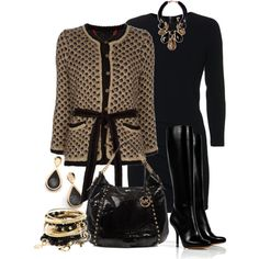 Gold and Black Cardigan