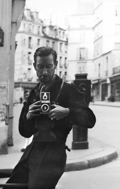 """Self-portrait, 1944  ***  """"In order to be a photographer, you have to be both a poet and a materialist;  and that is a lot of ambition!"""" ~ Pierre Jahan"""