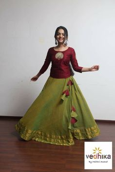 Beautiful & Attractive Designer Lehenga Cholis ArtsyCraftsyDad is part of Indian skirt - Long Gown Dress, Lehnga Dress, The Dress, Saree Gown, Long Dresses, Choli Designs, Lehenga Designs, Saree Blouse Designs, Kolam Designs