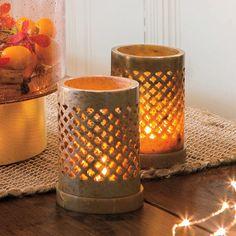 Teelichthalter Brighter Home: Naturbedingte Farbvariationen machen jeden Speckstein-Halter einzigartig- keiner gleicht dem anderen!