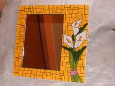 Decoluz y Mosaicos: Mosaicos - Espejos                                                                                                                                                                                 Más Mirror Mosaic, Mosaic Art, Mosaic Patterns, Frame, Creative, Artist, Home Decor, Glass, Table