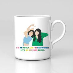 Fan Art Unofficial Broad City Ilana Abbi Comedy Travel Mug – Kituout Store Cube Decor, Broad City, Xmas Gifts, Comedy, Fan Art, Travel Mugs, Birthday, Prints, Etsy