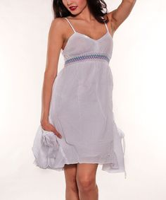Look what I found on #zulily! Sol Clothing White Empire-Waist Dress by Sol Clothing #zulilyfinds