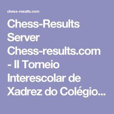 Chess-Results Server Chess-results.com - II Torneio Interescolar de Xadrez do Colégio Bento Benedini