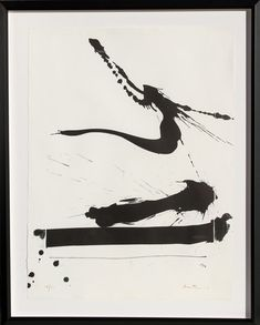 "Robert Motherwell "" Automatism A"" Lithograph 1966, Printer Irwin Hollander"