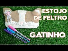 DIY - Estojo Gatinho em Feltro - Passo a Passo - Volta às Aulas - YouTube