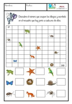 Sencilla ficha para reforzar los números hasta el 100. El alumno tendrá que adivinar qué números se esconden bajo las imágenes. Normas: No se puede empezar a contar desde el uno. Hay que empezar a contar desde la decena en la que se encuentra el objeto. El número se colocará 1st Grade Math Worksheets, Printable Preschool Worksheets, Preschool Learning Activities, Free Preschool, Coding For Kids, Math For Kids, First Grade Reading Comprehension, Bee Crafts For Kids, Phonics Rules
