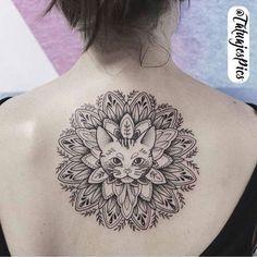#tatuaje gato mandala
