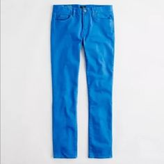 """J. Crew Jeans Toothpick Factory Skinny Bright Blue Tag Size - 27 Waist Measured Across - 15"""" Inseam - 28"""" Rise - 8"""" Good used condition. J. Crew Jeans Skinny"""