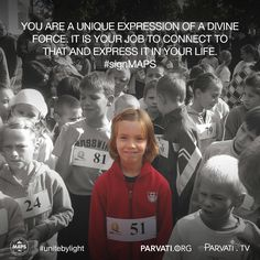 We each are unique expressions of a divine force and it is our job to discover what that is and express it in our life. It does not matter what it is. It just matters that it is fully and truly you. Go for it!  Visit this week's blog to know more.   If you have not already, please sign the petition at parvati.org to realize MAPS (the Marine Arctic Peace Sanctuary) and protect a critically vulnerable ecosystem that keeps our entire planet cool!