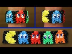 Minions Totem Pole Bracelet Rainbow Loom Mural Pixel Pictures Tutorial - YouTube