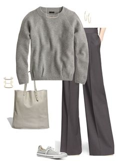 """Untitled #3949"" by shopwithm ❤ liked on Polyvore featuring Converse, Madewell, J.Crew and Argento Vivo"