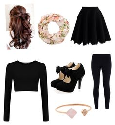 """""""Outfit #1"""" by lulamay13 on Polyvore featuring Chicwish, New Look, NIKE and Michael Kors"""