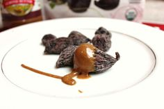 Quick and easy snack or dessert. Figs/dates dipped into almond/peanut butter, topped with cinnamon.