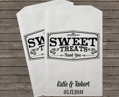 Wedding Favor Bags Candy Buffet Bags Candy Bar by StampsJubilee