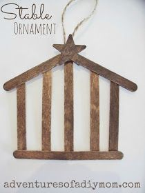 DIY Stable Ornament: add the Holy Family in silhouette?