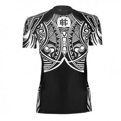 Short sleeve rashguard women MOKO. Color: black and white. Excellent quality rashguard HOBBY EXTREME is ideal for hard training people who appreciate the highest class of products. Made of high quality material, which, thanks to its flexibility, clings to the body. Sophisticated thermoregulation system by which the body is dry and the muscles warmed up. Sublimated logos (will not scratch).