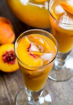 A tall glass of ice-cold peach iced tea is just what you need to quench your thirst on a hot day. Honey sweetened peachy iced tea perfection!  Source: www.sweetandsavorybyshinee.com