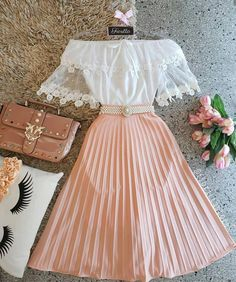 Outfits, school outfits, classy outfits, beautiful outfits, vintage out Girls Fashion Clothes, Teen Fashion Outfits, Mode Outfits, Skirt Outfits, Cute Fashion, Fashion Dresses, School Outfits, Fashion Styles, Cute Casual Outfits