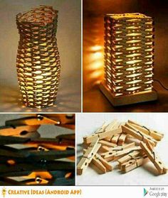 Clothespin's Lamp
