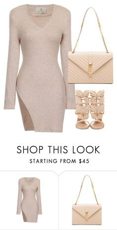 """Untitled #52"" by saintlauryn ❤ liked on Polyvore featuring Yves Saint Laurent and Giuseppe Zanotti"