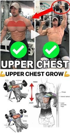Grow Your Upper Chest with these exercises and the most powerful BULKING STACK that comes with a lethal combo of 4 legal steroids Workout Log, Gym Workout Tips, Easy Workouts, Workout Exercises, Bodybuilding Training, Bodybuilding Workouts, Chest Workout For Men, Chest Workouts, Bodybuilder