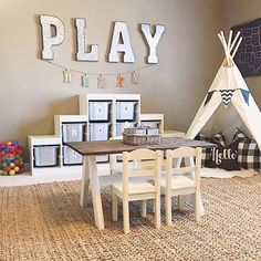 Stunning Playroom Storage Design Ideas for your Kids Room Organization. If you have a playroom, you do not have to worry about your kids just plummeting before watching television or computer. Playroom Design, Kids Room Design, Playroom Decor, Playroom Ideas, Basement Ideas, Basement Play Area, Kid Playroom, Basement Bathroom, Children Playroom
