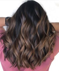 Roasted Almond Highlights hair cut ideas 60 Hairstyles Featuring Dark Brown Hair with Highlights Brown Hair Balayage, Hair Color Balayage, Balayage Hairstyle, Dark Brown Hair With Highlights Balayage, Balyage On Black Hair, Dyed Hair Brown, Highlights For Brunettes, Dark Brunette Balayage Hair, Caramel Balayage Highlights