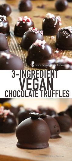 These simple vegan chocolate truffles make the perfect diy food gift for this holiday season. Click the link for the full recipe.