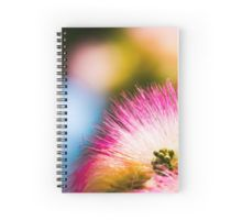 Exotic summer pink silk tree mimosa Spiral Notebook by #PLdesign #summer #exotic #pink #redbubble
