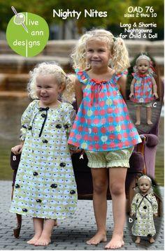 Sewing Patterns, Olive Ann Designs, Nighty Nites