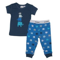 Baby pj set - elephants