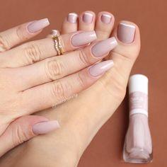 Lindeza essa unha nude com francesinha nos pés! Faux Ongles Gel, Nails 2017, Luxury Nails, French Tip Nails, Nail Tutorials, Perfect Nails, Trendy Nails, Manicure And Pedicure, Natural Nails